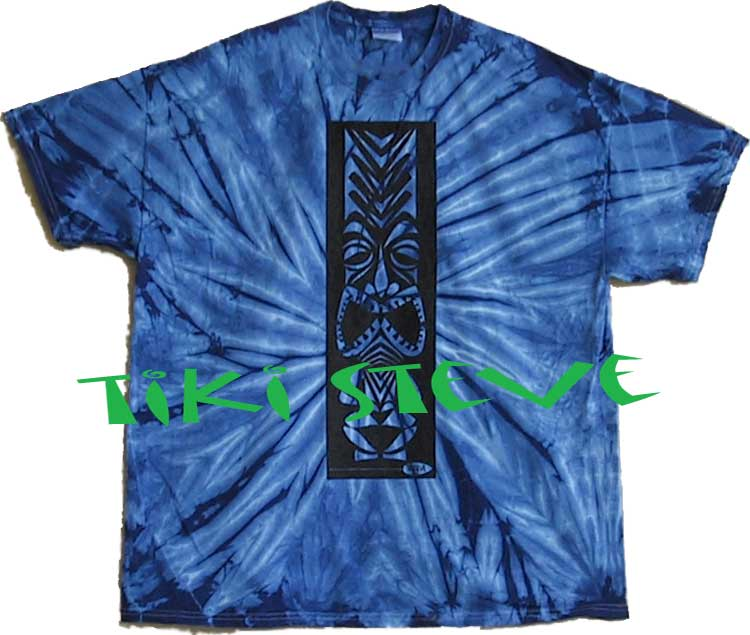 Blue Spider Tiki T-Shirts
