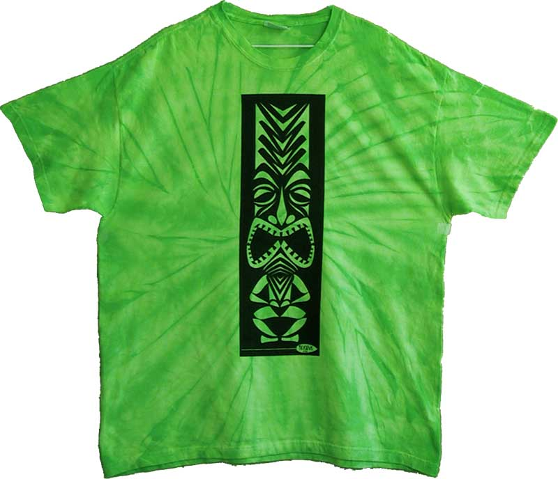 Lime Spider Tiki T-Shirts