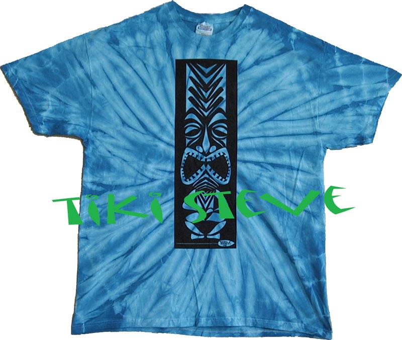 Turquoise Spider Tiki T-Shirts
